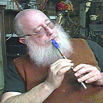 <b>Conrad Bladey relaxes with a whistle</b>